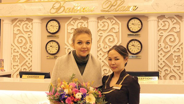"The finalist of the show ""People's Artist"" Maria Devyatova and her team are visiting the ""Baikal Plaza"" hotel!"